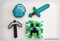 Minecraft from Perler Beads