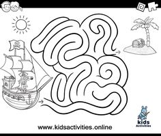 Free printable maze coloring pages for kids ⋆ Kids Activities Bear Coloring Pages, Coloring Pages To Print, Printable Coloring Pages, Coloring Pages For Kids, Mazes For Kids Printable, Free Printables, Preschool Activities At Home, Maze Worksheet, Maze Game