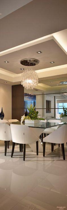 Decoracin De Comedores Con Espejos 20 Dining Room ModernDining RoomsCeiling DesignArchitecture