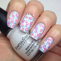 xxpinky_bubblesxx #nail #nails #nailart