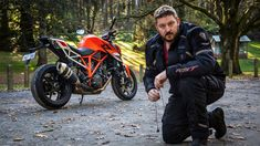 Loz prepares to shoot video with the KTM 1290 Super Duke R Duke Bike, Ktm Motorcycles, A Funny Thing Happened, The Marketing, Collections, Projects, Motorbikes, Log Projects