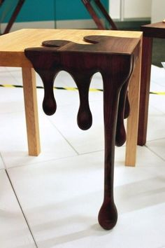 super cool wooden table via The Odd One Out