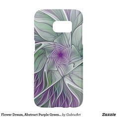 Flower Dream, Abstract Purple Green Fractal Art Samsung Galaxy S7 Case