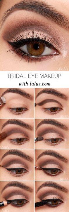 Maquillaje para ojos marrones paso a paso! El look esfumado es ideal para conseguir una mirada más intensa, sólo mira a Kim Kardashian #maquillajepasoapaso