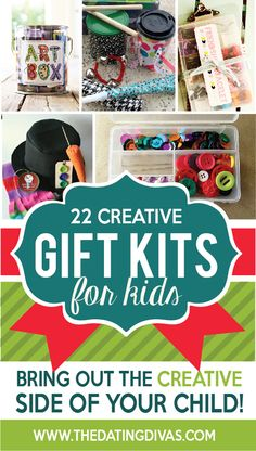 DIY gift kits for kids! Such a fun idea for a Christmas gift- a whole kit to use their creativity.