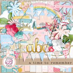 A Time to Remember was inspired by the magic, grace and beauty of one very famous pink castle! But - it is so packed full of goodies and so versatile, you'll be able to use it for babies, princess dress up, spring time photos, and so much more! - A digital scrapbooking kit by Britt-ish Designs.