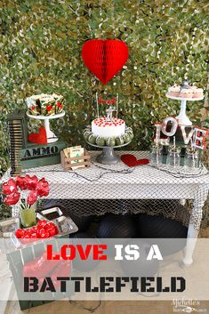 Love is a Battlefield Valentine's Day Party by Michelle's Party Plan-It
