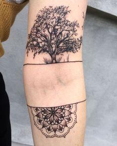 tree mandala tattoo © Katelyn Irvine tattoo artist