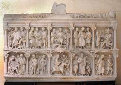 Sarcófago de Junio Basso, Roma, mediados del siglo IV d. C.