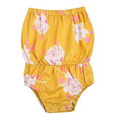 Pudcoco Summer Newborn Baby Girls Floral Romper Off Shoulder Jumpsuit Cotton Children One-Piece Outfit Clothes #Affiliate