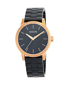 NIXON SMALL KENSINGTON STAINLESS STEEL BRACELET WATCH. #nixon #