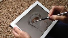 Amazing Sensu stylus brush for touch pads! It is amazing! Used with Paper by 53 in this video