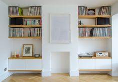 New Ideas Hallway Storage Wall Ikea Hacks Living Room Storage, Room, Home Living Room, Bedroom Alcove, Living Room Shelves, Room Interior, New Living Room, Alcove Ideas Living Room, Living Room Designs