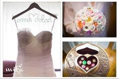 Lovely wedding gown hanger