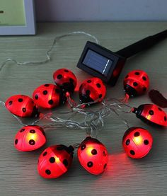 Waterproof Outdoor Solar Beetle LED String Light Garden Yarn Lamp The solar beetle LED light consists ofa solar panel and LED lights. During the day time, light from the sun charges up the batteries. At night, the energy stored in the batteries is used to power the light. No other power or connections are required. The length of time the light stays on is dependent on how much sunlight has been received during the day.