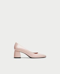 Image 2 of MID HEEL FAUX PATENT COURT SHOES from Zara