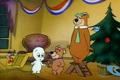 Forgotten Cartoon Christmas Specials Of The 1970s: Casper's 1st Christmas {1979} A whole gaggle of Hanna-Barbera stars — Yogi Bear, Boo Boo, Huckleberry Hound, Snagglepuss, Quick Draw McGraw, etc. — turn up to celebrate Christmas with the little ghost. It is of note as the rare crossover of characters from the worlds of Hanna-Babera and Harvey Entertainment, who owned the right to Casper and Richie Rich.