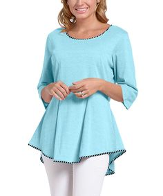 Love this lur® Turquoise Crocus Top - Women by lur® on #zulily! #zulilyfinds