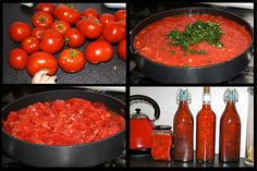 Tomato Recipes How to Make Tomato Sauce (and Tomato Paste) - Nourishing Joy - Knowing how to make homemade tomato sauce and how to make tomato paste can make your life so much easier during tomato season. And the fresh taste is unparalleled! Tomato Ketchup Recipe, Fresh Tomato Sauce Recipe, How To Make Tomato Sauce, Homemade Tomato Sauce, Pasta Sauce With Fresh Tomatoes, Tomatoe Sauce, Sauce Recipes, Pasta Recipes, Real Food Recipes