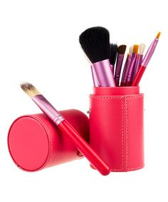 Look at this Bliss & Grace 12-Piece Red Professional Make-Up Brush Set on #zulily today!