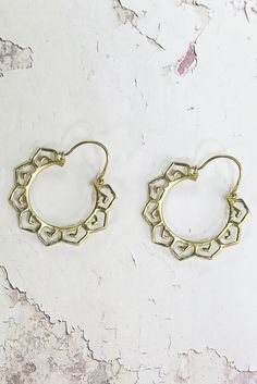Helen & sienna -meg earrings- Bohemian inspired hoop earrings in many different modal made out of 24 gold pated brass and are perfect for the ultimate boho bride