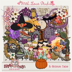 Tammy Tags Blog Train Post - Fall DSD 2014, With Love Studio, A Grimm Tale.  Lots of great digital scrapbooking freebies!