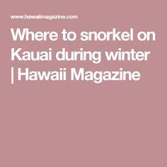 Where to snorkel on Kauai during winter | Hawaii Magazine