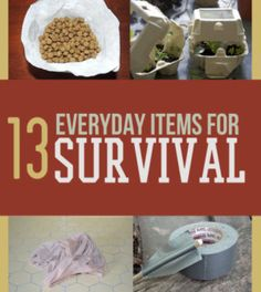 13 Everyday Items for Survival | Everyday items you may not know can be used for survival. #SurvivalLife www.SurvivalLife.com