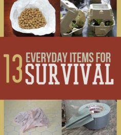 13 Everyday Items For Survival | #survivallife www.survivallife.com