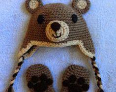 Totoro inspired baby hat mittens diaper cover & rattle от scotako