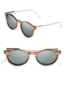 Spitfire 54MM Flex Round Sunglasses Women's Grey