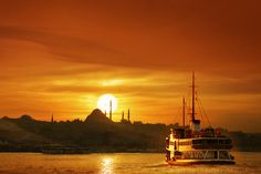 Enjoying the sunset over Istanbul. Simply a splendid view and a must visit city!