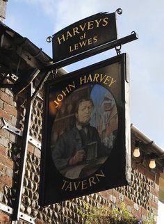 The John Harvey Tavern Lewes East Sussex - Pub Sign | Flickr - Photo Sharing!