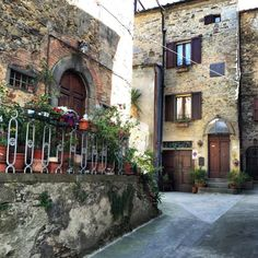 Little street in Chianni, Tuscany Brick And Stone, Tuscany, Medieval, Street, Beautiful, Italy, Tuscany Italy, Roads, Middle Ages