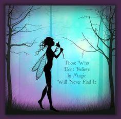 mystical magical silhouette fairies