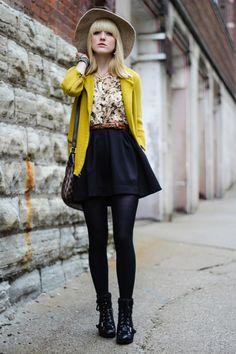 Idea for wearing skater skirt