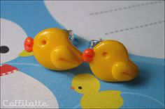 Cute ducks - stud earrings via Etsy