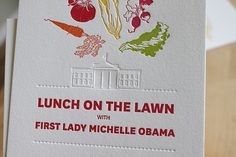 """""""the first lady's garden"""" letterpressed by moontree letterpress. designed by sarah cave."""