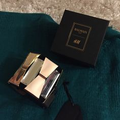 BALMAIN FOR H&M CUFF BRACELET IN BLACK LEATHER🎉🎉 Brand new with tags balmain cuff bracelet with tags and box. Never worn. Bought at the debut of the balmain collection for h&m. Limited edition piece Balmain Jewelry Bracelets