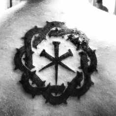 My tattoo, crown of thorns with nails