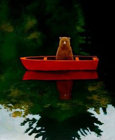 """Bear in Boat,"" by Joyce Koskenmaki."