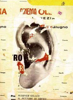 Mimmo Rotella, In modo perfetto, 1962  decollage su tela Mixed Media Collage, Collage Art, Martin Kippenberger, James Rosenquist, Pop Art, Claes Oldenburg, Moholy Nagy, Jasper Johns, Sign I
