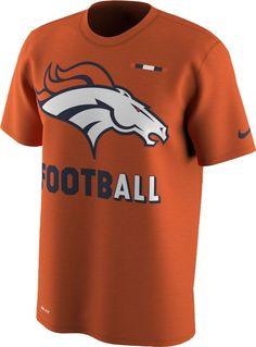 3b72b1bbc Nike Men s Denver Broncos Sideline 2017 Legend Football Performance Orange T -Shirt