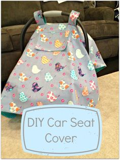 DIY Car Seat Cover with peek window!! Perfect for peeking at the baby if they are asleep or if it's bad weather instead of lifting the whole car seat cover front