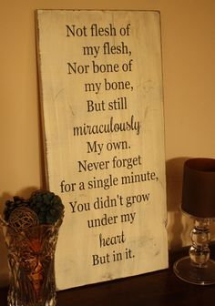 12x24 Distressed Adoption Creed Sign on Etsy, $30.00