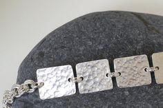 Hammered Silver Bracelet   Ecofriendly Sterling by #Linkouture #jetteam #jewelryonetsy