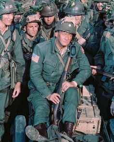 The Longest Day Photograph - John Wayne In The Longest Day by Silver Screen John Wayne Quotes, John Wayne Movies, Classic Tv, Classic Movies, Hollywood Actor, Classic Hollywood, Le Jour Le Plus Long, Irina Demick, Omaha Beach