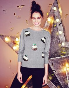 Pin for Later: 50 Christmas Jumpers That'll Satisfy Your Festive Fashion Urges  Fashion Union Pudding Xmas Jumper  (£20)