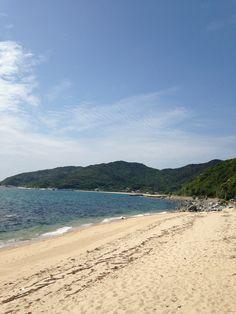 Kishi beach.  岐志の浜辺