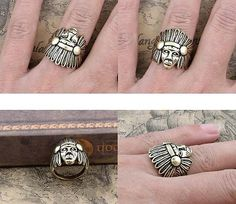 Vintage Indian Cocktail Ring - Rings - Jewelry Free shipping